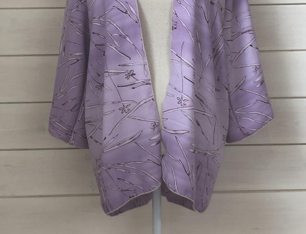 Flowerfesta Purple 1/2 Length Kimono