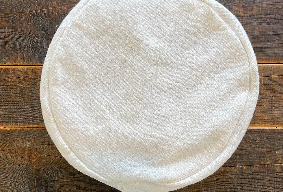 Solid cream meditation cushion