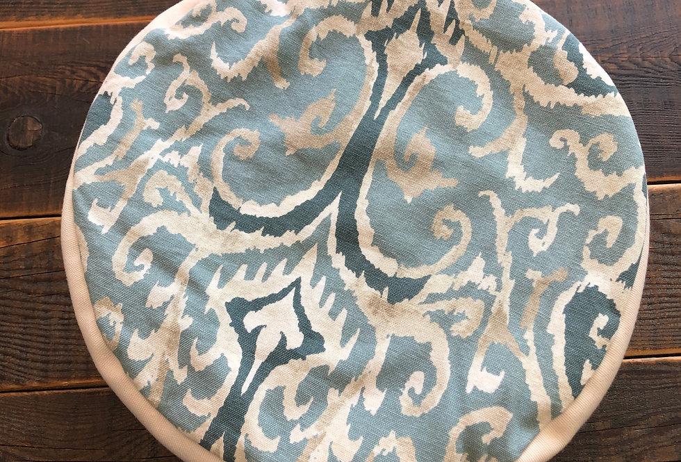 Antique Blue & Polka dot Meditation Cushion
