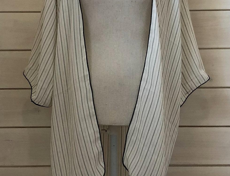 Black & White pin stripe cover up