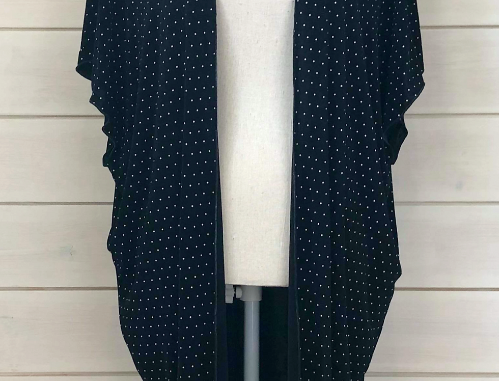 Black with White Polka Dot Kimono