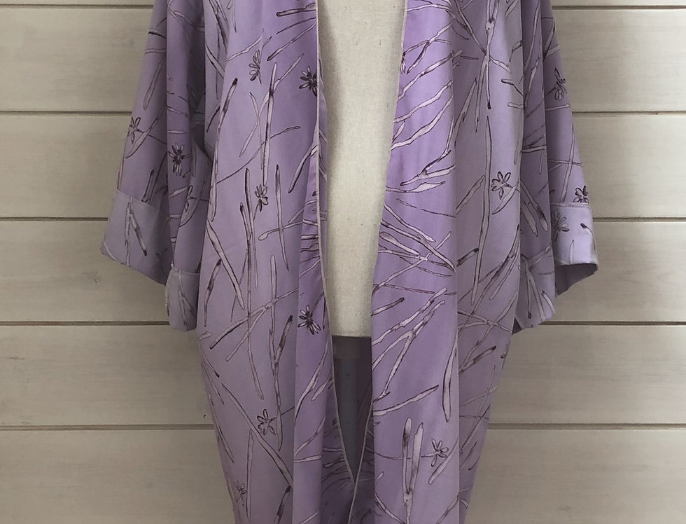 Flowerfesta Purple Full Length Kimono