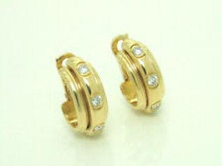 Piaget Possession Creolen 1991 18K Gold 0,78ct Diamanten Ohrringe NP 10.610CH