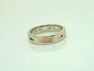 Original Baraka Ring in 18K Rot- und Weißgold mit Diamanten ca 0,25ct Top Design
