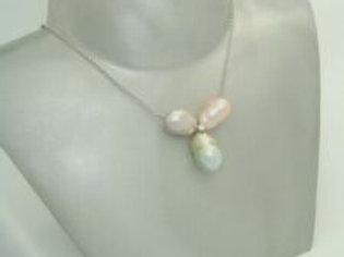 Schoeffel Kette mit drei Perlen & 0,1ct Diamant in 18K Weißgold Schöffel Collier