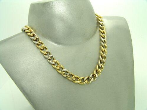 Massives Pomellato Collier in 18K Gelb- & Weißgold Kette necklace 123,9g