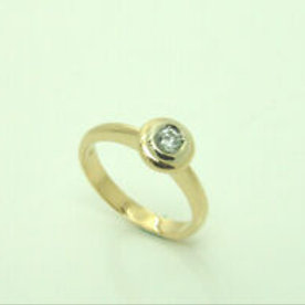 Christ Diamonds Ring in 14K Gelbgold mit einem Diamanten Solitär-Ring Solitaire