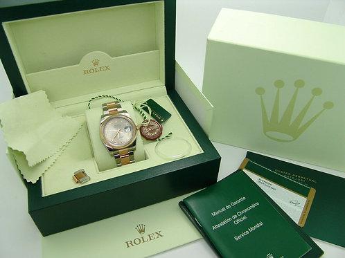 Rolex Datejust Automatikuhr Stahl/Roségold 116201 Uhr Ø36mm + Papiere 2014 & Box
