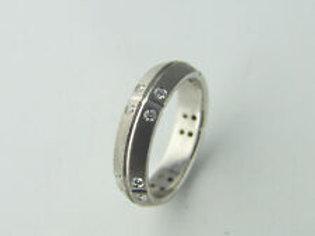 Original Tiffany & Co Ring Streamerica aus 18K Weißgold mit 0,20ct Diamanten