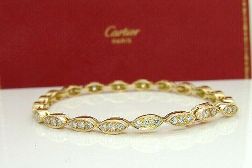 Original Cartier Armband Armkette 18K Gelbgold mit 60 Diamanten bracelet + Box