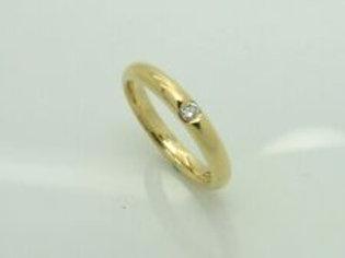 Feiner Wempe Niessing Ring aus 18K Gelbgold mit 0,04ct Diamant Brillant Gr. 49
