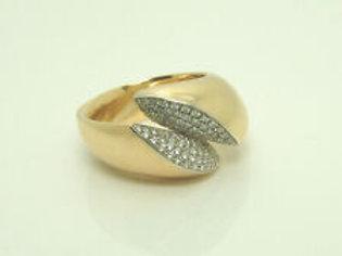Wempe Ring in 18k Gold mit 0,59ct Diamanten + Echtheitszertifikat 40RG0441