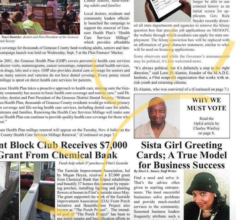 Article in the Courier(Flint, MI).jpg