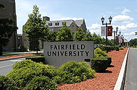 Fairfield University Campus Sign - Emagination Tech Camp CT Location