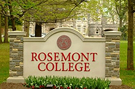 Rosemont College Campus Sign - Rosemont PA 19010- Emagination Tech Camp PA Location
