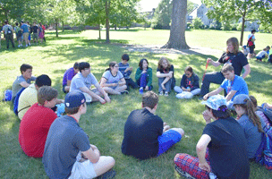 Emagination Tech Campers participating in an outdoor activity