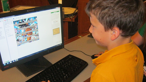 A Tech Camper learning Action Game Design at Tech Camp