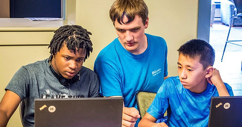 Emagination Tech Campers learning Unity Game Design