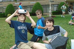 Emagination Tech Campers hanging out at Technology Camp
