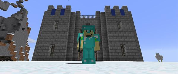 Minecraft player in world