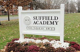 Suffield Academy Sign - Emagination Tech Camp CT Location