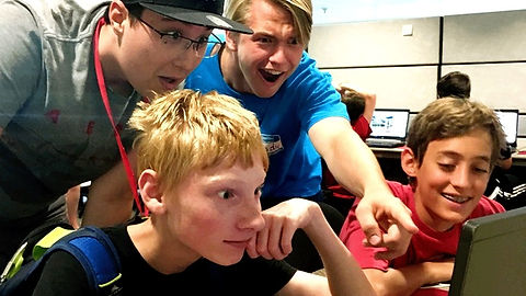 Tech Campers learning at Emagination Tech Camp