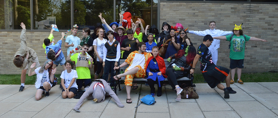 Emagination Tech Campers dressed up for character-con