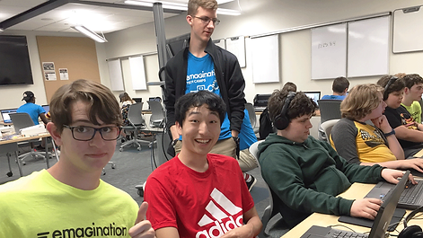 A group of Emagination Tech Campers learning at Technology Camp