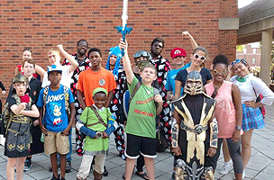 Emagination Tech campers in costume