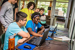 Emagination Tech Campers coding during technology camp