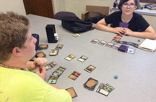 Tech Campers playing Magic the Gathering