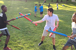 Tech Campers participating in a LARP activity