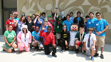 Emagination Tech Campers dressed up in costumes