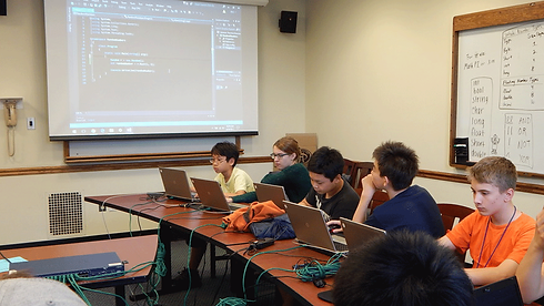 Tech Campers learning how to code in Java