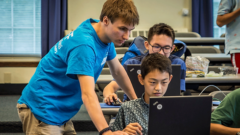 Emagination Coding Camps - Campers learning to code