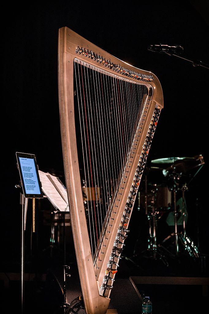 Harpe électrique sur scène