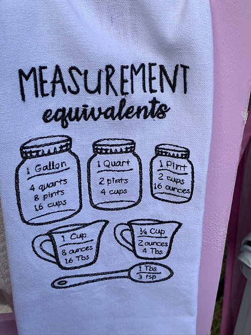 Measurement Kitchen towel