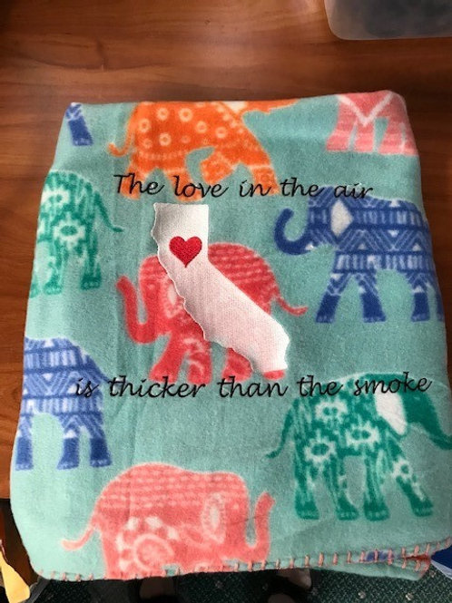 Love in the Air is thicker than the smoke Throw Blanket