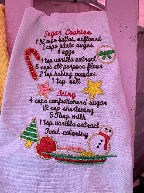 Sugar Cookie recipe towel