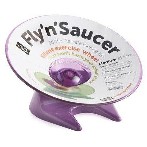 Small 'N' Furry Fly 'N' Saucer Wheel Purple
