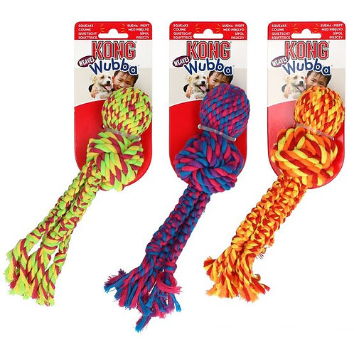 KONG Wubba Weaves with Rope Large