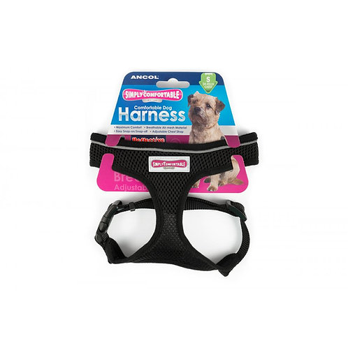 Ancol Comfort Mesh Harness Black