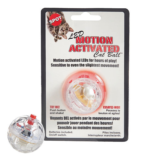 LED Motion Activated Cat Ball Flashing Lights Play Chase Hunt Exercise