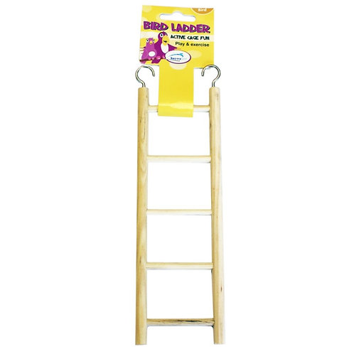 Happy Pet 5 Rung Wooden Bird Ladder