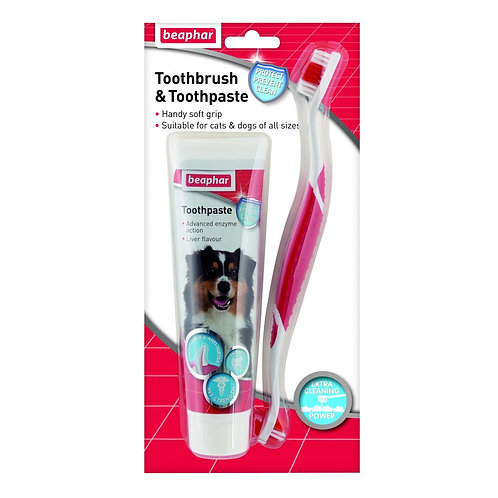 Beaphar Toothbrush & Toothpaste Kit 100g