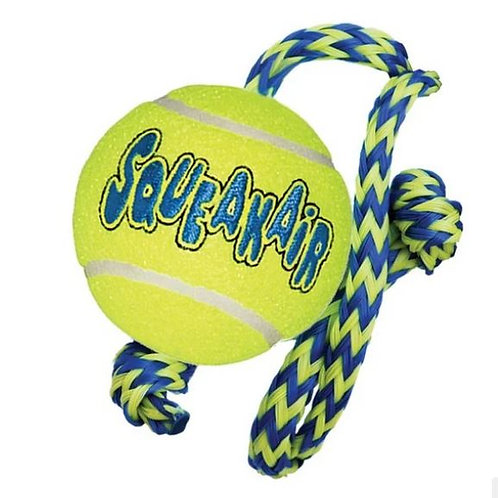 KONG AirDog Squeakair Ball With Rope Medium