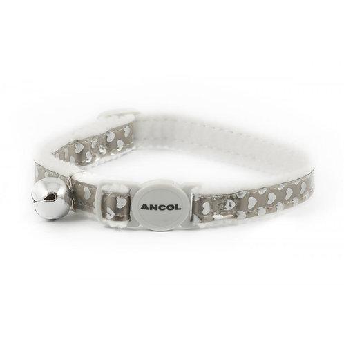 Ancol Cat Collar Hearts Silver 20-30cm