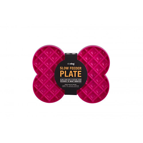SloDog Slow Feeder Plate No Bloating No Gulping Prevents Digestive Issues - Pink
