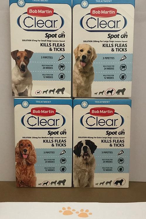 Bob Martin FleaClear Spot On Flea & Tick Protection for Dogs