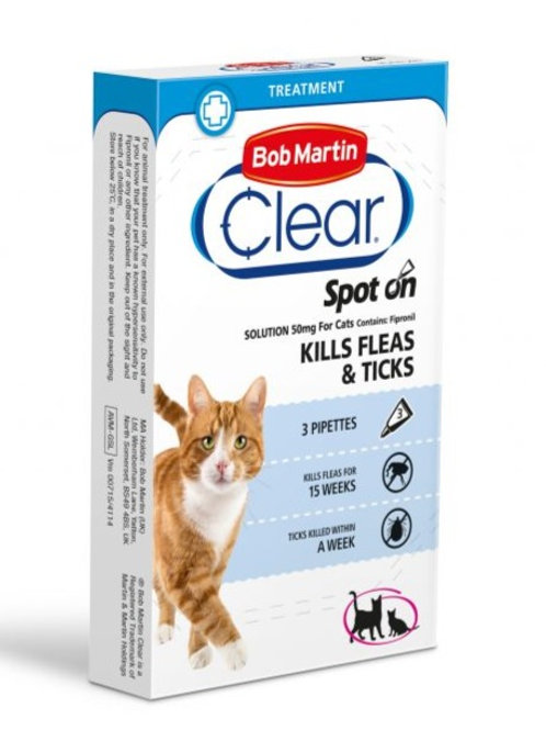 Bob Martin FleaClear Spot On for Cat